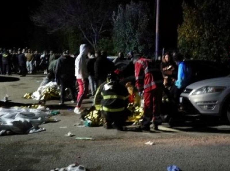 იტალიაში კონცერტზე ჭყლეტის დროს 6 ადამიანი დაიღუპა და 120 დაშავდა