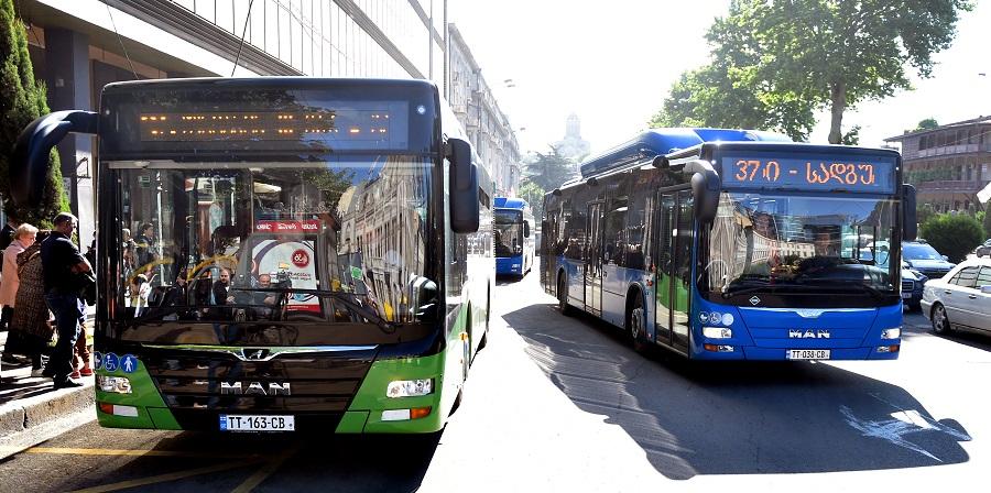 MAN-ის მარკის ახალი, 10-მეტრიანი ავტობუსები N85 და N95 მარშრუტებზე გავიდნენ