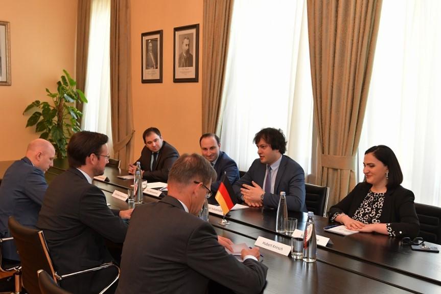 ირაკლი კობახიძე  რუსეთის, ცენტრალური აზიისა და აღმოსავლეთ პარტნიორობის ქვეყნების საკითხებში გერმანიის ფედერალური მთავრობის კოორდინატორს შეხვდა