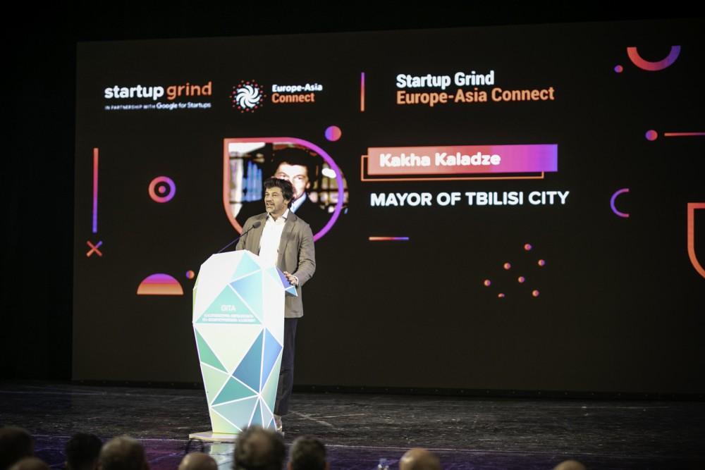 თბილისის მერი Startup Grind Europe-Asia Connect-ის კონფერენციას დაესწრო