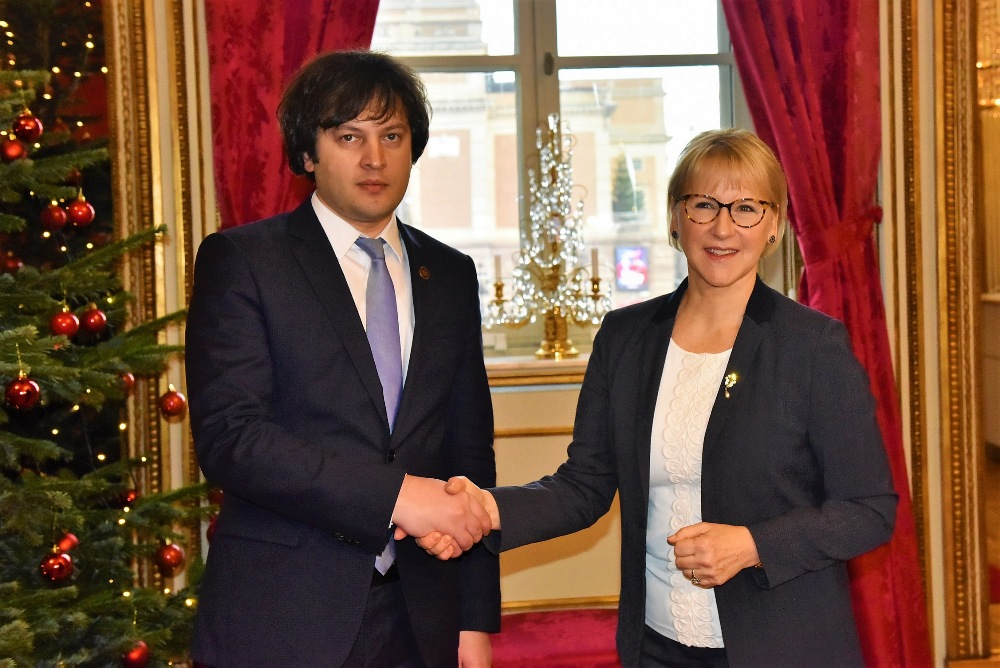 ირაკლი კობახიძე შვედეთის სამეფოს საგარეო საქმეთა მინისტრს შეხვდა