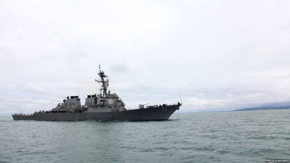 ნაღმოსანი USS Ross ბათუმში პირველად შემოვიდა