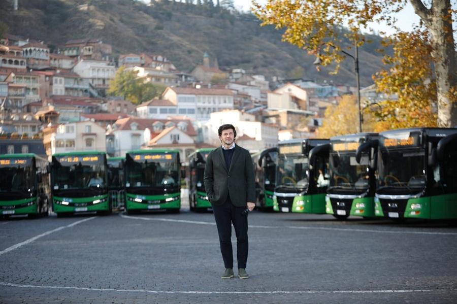 დედაქალაქის საზოგადოებრივ ტრანსპორტს 54 ავტობუსი შეემატა