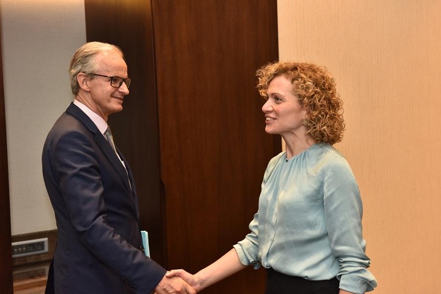თამარ ხულორდავა ევროკომისიის სამეზობლო პოლიტიკისა და გაფართოების შესახებ მოლაპარაკებათა საკითხებში გენერალურ დირექტორს შეხვდა
