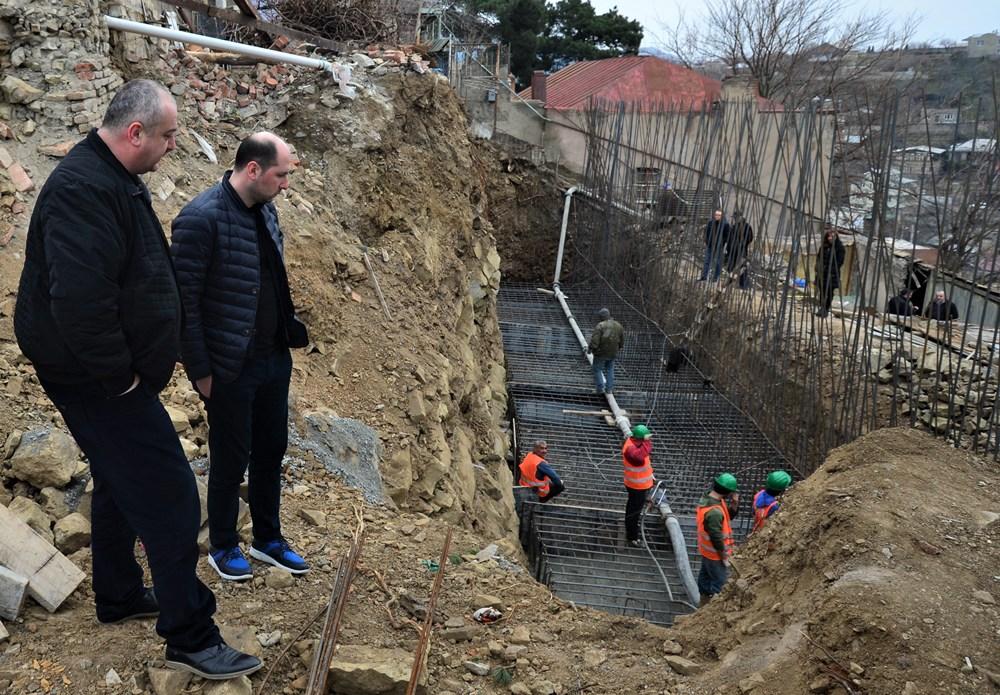 ნაძალადევის რაიონში საყრდენი კედლების მშენებლობა მიმდინარეობს