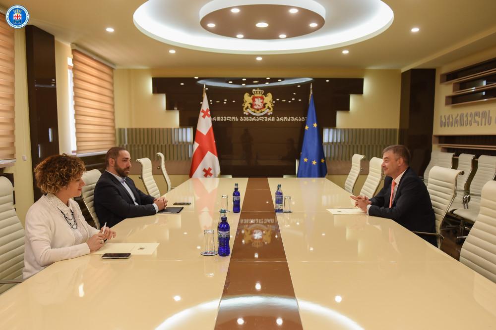 გენერალური პროკურორი ირაკლი შოთაძე  საქართველოში ევროპის საბჭოს ოფისის ხელმძღვანელს  კრისტიან ურსეს შეხვდა