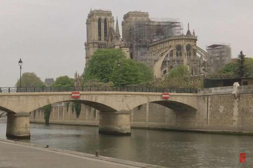 პარიზის ღვთისმშობლის ტაძრის ტერიტორიას ტყვიით დაბინძურებისაგან წმენდენ
