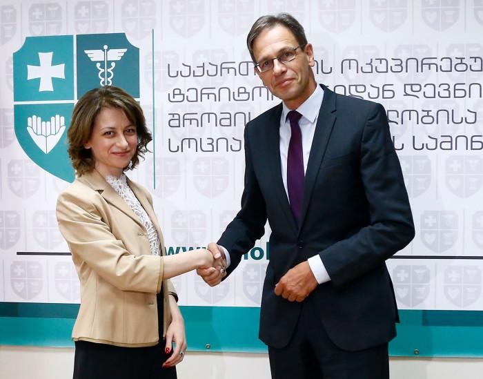 ჯანდაცვის მინისტრი გერმანიის ელჩს შეხვდა