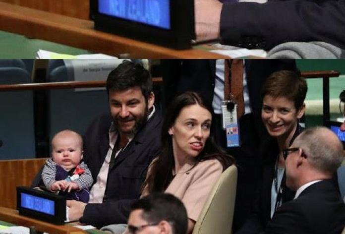 ახალი ზელანდიის პრემიერ-მინისტრი გაერო-ს ასამბლეას მცირეწლოვან შვილთან ერთად ესწრება