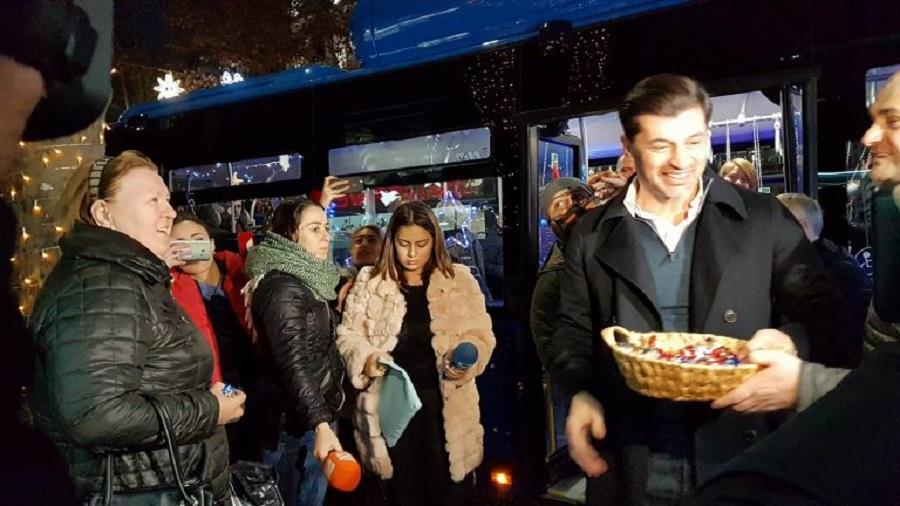 თბილისმა საჩუქრად MAN-ის ახალი ავტობუსი მიიღო
