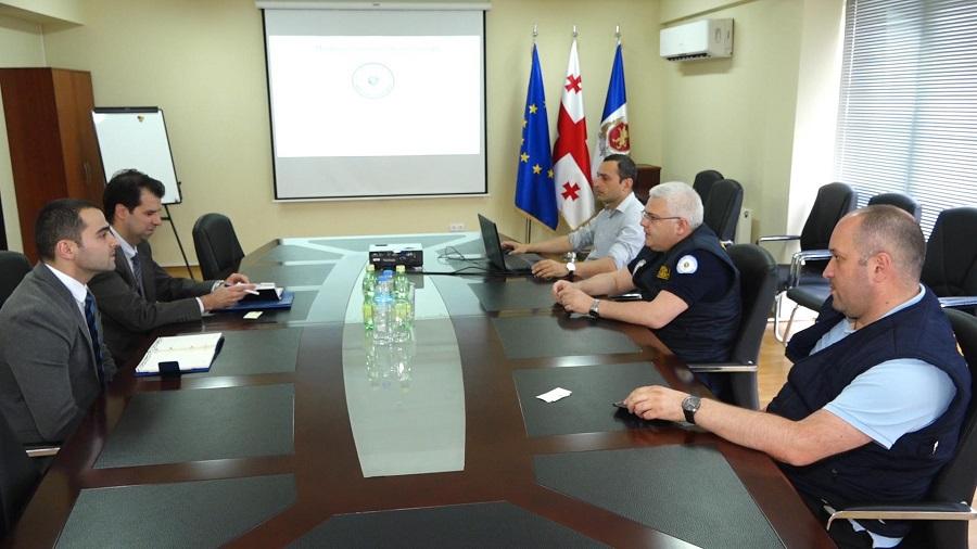 შსს-ს მიგრაციის დეპარტამენტის დირექტორი საბერძნეთის საელჩოს პოლიციის მეკავშირე ოფიცერს შეხვდა